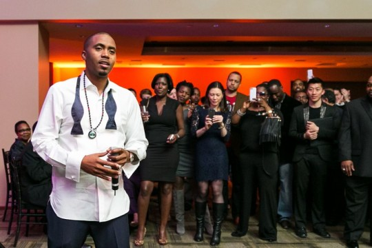 Nas and the crowd 540x360 - Event Recap: Nas Celebrates 20 Year Illmatic Anniversary with Hennessy V.S!  @Nas @HennessyUS #WildRabbit