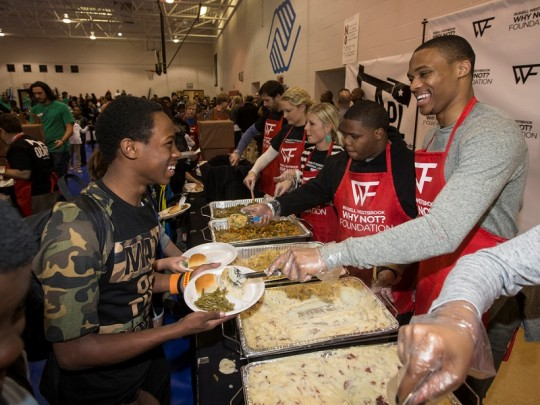 image009 540x405 - Event Recap: Russell Westbrook Host  #Thanksgiving Dinner with Boys & Girls Clubs of America @BGCA_Clubs @russwest44