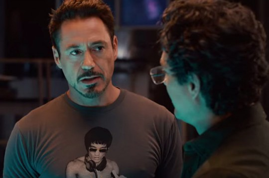 donotreuse avengers bruce lee shirt robert downey jr 2015 billboard 650 540x357 - #StyleWatch: Gung Fu Scratch Tee- Bruce Lee by Bow & Arrow @bowandarrow78 #dj #BRUCELEE
