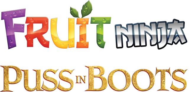 fruitninjapussinboots   title treatment - Game Review: Fruit Ninja; Puss in Boots