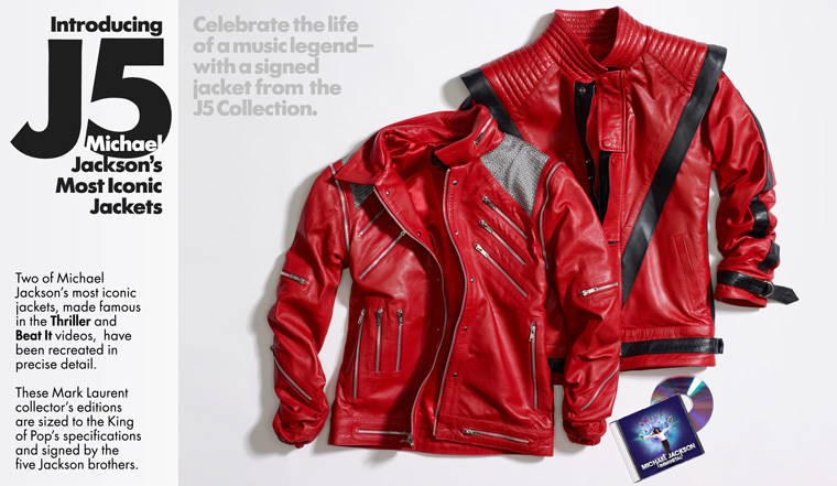 """12 - Jackson 5 and Prince Michael for J5 Collection limited edition """"Thriller"""" and """"Beat It"""" Jackets"""