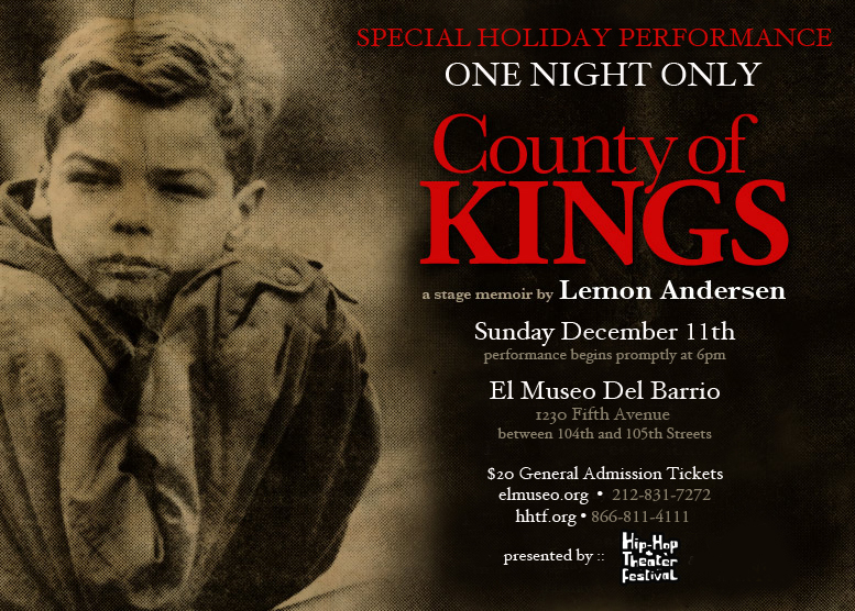 "County of Kings Evite11 - Lemon Anderson Presents ""County of Kings"" at El Museo Del Barrio"