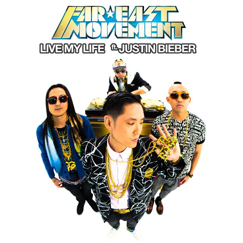 """577 - Far East Movement Collaborate With Justin Bieber on  """"Live My Life"""""""