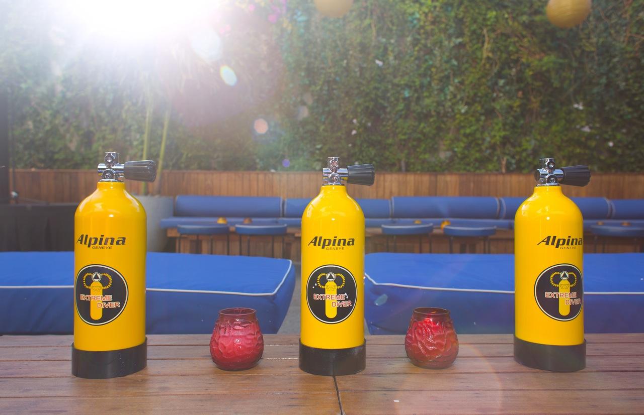 Watch Gift Box Oxygen Tanks - Event Recap: Alpina Watches Cabana Party Celebration