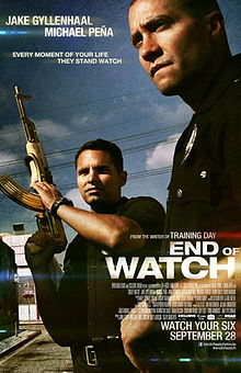 """220px End of Watch Poster - Jake Gyllenhaal's """"End of Watch"""""""