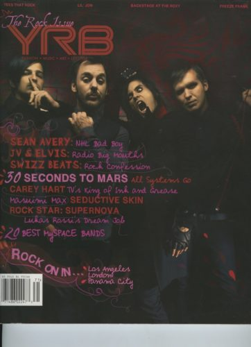 Issue 107 The Rock Issue 0 Seconds to Mars 362x500 - Print Magazine Covers 1999-2018