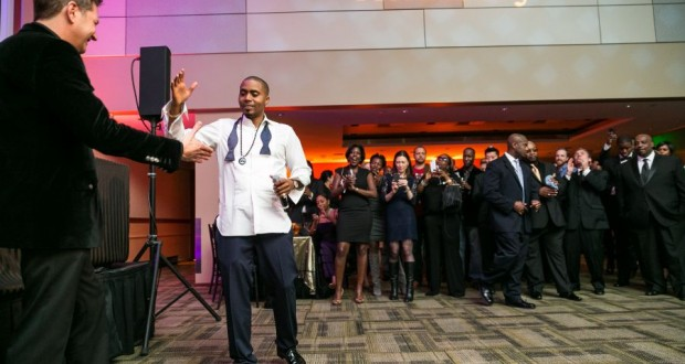 Nas giving a high five 620x330 - Event Recap: Nas Celebrates 20 Year Illmatic Anniversary with Hennessy V.S!  @Nas @HennessyUS #WildRabbit