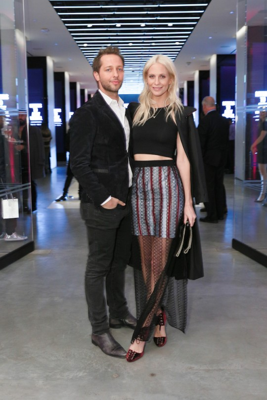Derek Blasberg and Poppy Delevingne MatteoPrandoni BFA.com  540x809 - Event Recap: Letters to Andy Warhol opening at Cadillac House #CadillacxWarhol @Cadillac @TheWarholMuseum