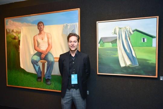 Grant Collier Credit Patrick McMullan 540x360 - Event Recap: The Accessible Art Fair New York MvVO Art VIP Opening at the National Arts Club #accafny @mvvoart @NatnlArtsClub @LawlorMedia