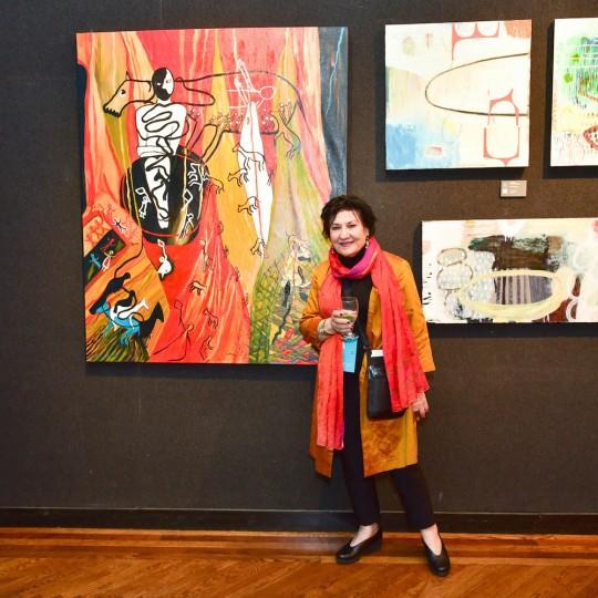 Lea Shabat Credit Patrick McMullan 540x540 - Event Recap: The Accessible Art Fair New York MvVO Art VIP Opening at the National Arts Club #accafny @mvvoart @NatnlArtsClub @LawlorMedia