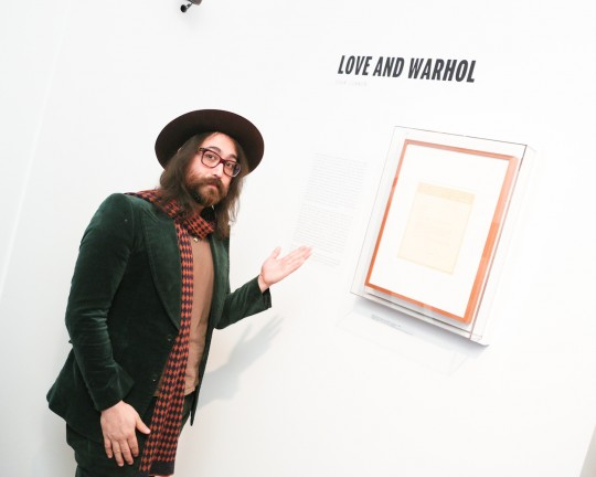 Sean Lennon Exhibition 1 MatteoPrandoni BFA.com  540x432 - Event Recap: Letters to Andy Warhol opening at Cadillac House #CadillacxWarhol @Cadillac @TheWarholMuseum