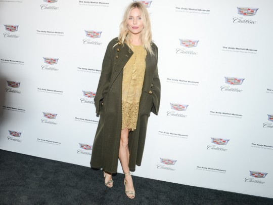 Sienna Miller MadisonMcgaw BFA.com  540x405 - Event Recap: Letters to Andy Warhol opening at Cadillac House #CadillacxWarhol @Cadillac @TheWarholMuseum