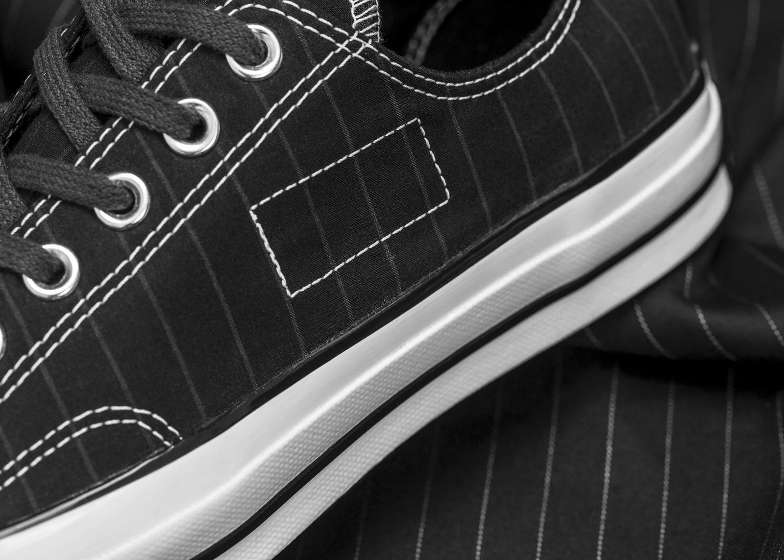 156451C Fragment Striped 02 Left Detail rectangle 1600 - #STYLEWATCH: @Converse and Fragment Design Collaborate on Chuck '70 Collection #ForeverChuck
