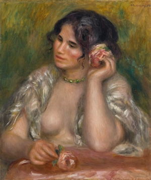 Auguste Renoir Gabrielle a la rose - Colors of Impressionism: Masterpieces from The Musée D'Orsay Exhibit March 29-July 29 , 2018 @artgalleryofsa