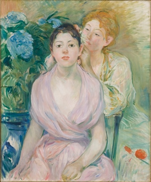 Berthe Morisot hortensia RGB 4000px - Colors of Impressionism: Masterpieces from The Musée D'Orsay Exhibit March 29-July 29 , 2018 @artgalleryofsa
