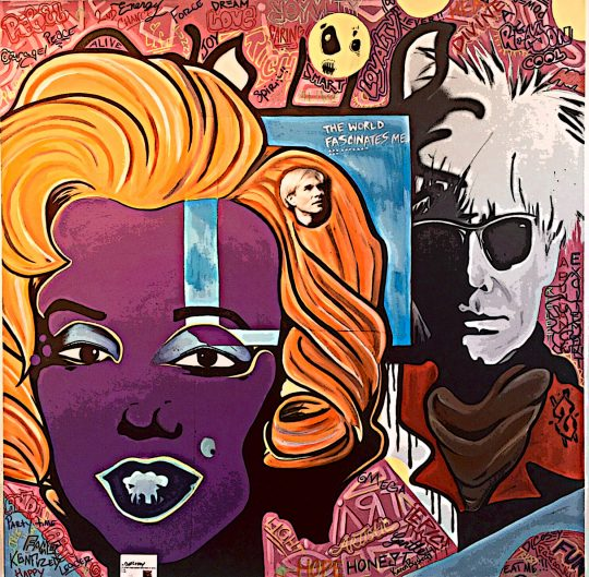 01 Chris Brown andDeecosey 48 x48  540x529 - The Lost Warhols Exhibit by Karen Bystedt May 1-22, 2018 @karenbystedt @godslovenyc #AndyWarhol