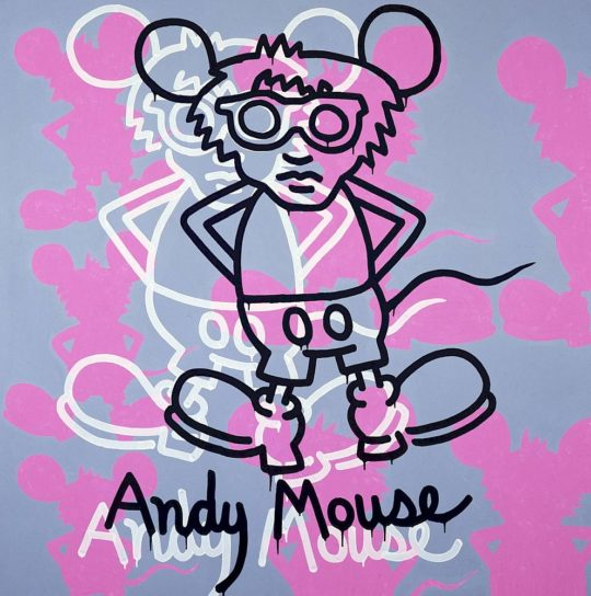keith haring andy mouse  1985 copyright c keith haring foundation 1.1200x0 540x544 - Keith Haring, The Alphabet exhibit March 16- June 2, 2018 at the @AlbertinaMuseum