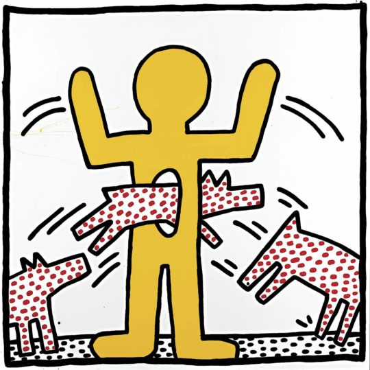 keith haring ohne titel  1982 c keith haring foundation.1200x0 540x539 - Keith Haring, The Alphabet exhibit March 16- June 2, 2018 at the @AlbertinaMuseum