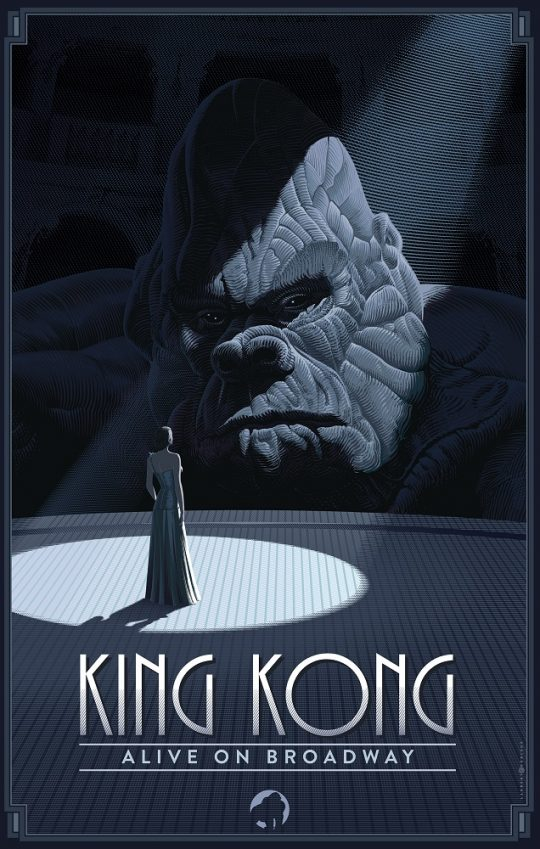 KingKongV12 540x849 - Broadway's King Kong reveals new poster art by Laurent Durieux, Francesco Francavilla and Olly Moss. @f_francavilla @ollymoss @Freecomicbook #fcbd #KingKong