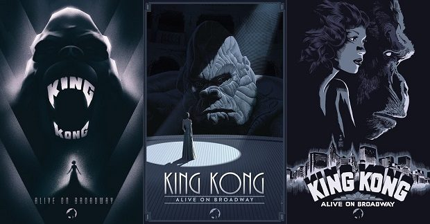 kingkongbway 620x324 - Broadway's King Kong reveals new poster art by Laurent Durieux, Francesco Francavilla and Olly Moss. @f_francavilla @ollymoss @Freecomicbook #fcbd #KingKong