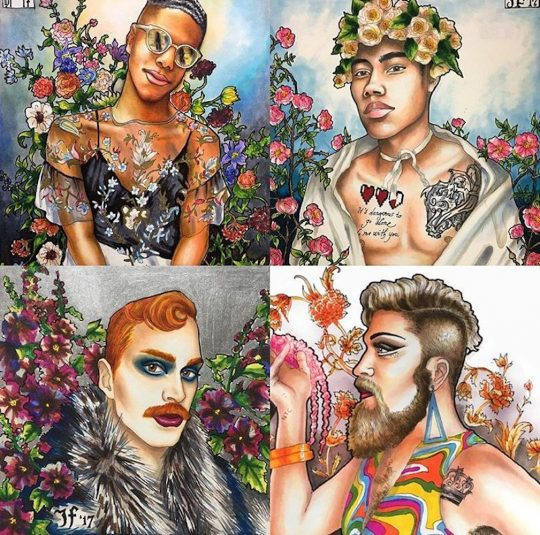 James Falciano A Celebration of Queer Expression 540x535 - Reclaiming My Pride: Group Exhibit June 21-24, 2018 @MetrosourceMag @OneWorldNYC @NYC Pride #nycpride2018 #LGBTQ