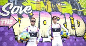 1 Drivers Sam Bird and Alex Lynn 300x160 - Event Recap: Art Goes Green Event with @Kaspersky Lab @DSVirginRacing @DFaceOfficial at The @newmuseum @alexlynnracing @sambirdracing #FormulaE #NYCEPrix