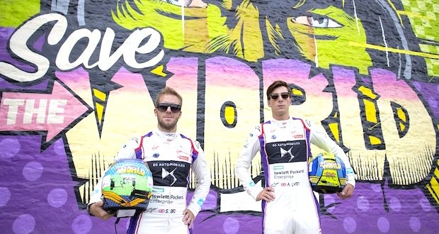 1 Drivers Sam Bird and Alex Lynn 620x330 - Event Recap: Art Goes Green Event with @Kaspersky Lab @DSVirginRacing @DFaceOfficial at The @newmuseum @alexlynnracing @sambirdracing #FormulaE #NYCEPrix