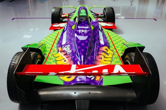 4. The teams Formula E car with the new livery rear 540x360 - Event Recap: Art Goes Green Event with @Kaspersky Lab @DSVirginRacing @DFaceOfficial at The @newmuseum @alexlynnracing @sambirdracing #FormulaE #NYCEPrix