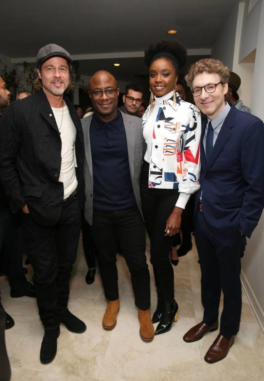 BR015380 540x778 - Event Recap: Brad Pitt Hosts Special Screenings of IF BEALE STREET COULD TALK @BarryJenkins @BealeStreet @AnnapurnaPics @RealChalamet  @realstephj #bradpitt
