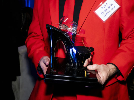 Slayletto Award 540x405 - Event Recap: Metrosource People We Love Gala @MetrosourceMag @TheTinaBurner @donlemon @mickeymusto @48loungenyc @VisitIsrael #PeopleWeLove event!  #GayNYC @ILoveGayNYC