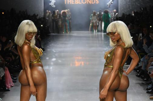 unnamed 59 - The Blonds FW19 @theblondsny @davidblond @phillipeblond @lilkim @themisshapes @lionbabe @karrueche @ClermontTwins #NYFW