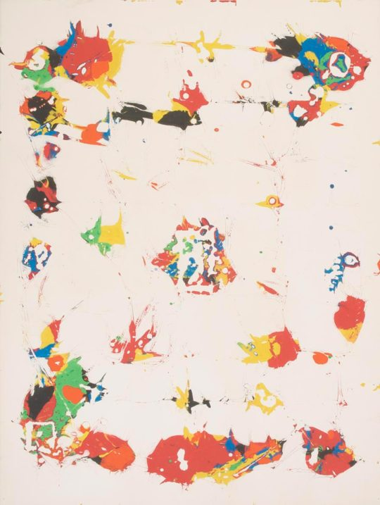 sam francis sf91s martin lawrence galleries 1 540x717 - American Abstract Expressionist Sam Francis Exhibition April 11-April 30, 2019 Martin Lawrence Galleries @TweetMLG #SamFrancis