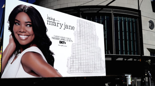 AtlanticTerminal 540x298 - Being Mary Jane celebrates series finale with #wedding cake billboard created by Ayesha Curry  @BET @itsgabrielleu @ayeshacurry #BeingMaryJane