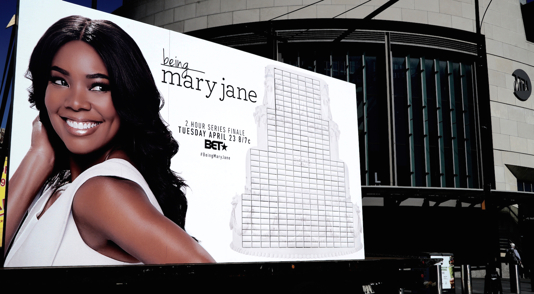 47122c5c168a Being Mary Jane celebrates series finale with  wedding cake billboard  created by Ayesha Curry  BET  itsgabrielleu  ayeshacurry  BeingMaryJane
