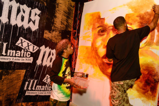 BFA 27642 3476612 540x361 - Nas presents Illmatic XXV: Memory Lane in NYC pop-up in honor of album's 25th anniversary @nas @sonysquarenyc @HennessyUS #illmaticxxv