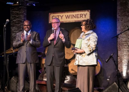 Christian McBride NJPACs John Screiber and Melissa Walker Photo by Richard Conde 540x383 - Event Recap: Jazz House Kids 2019 Spring Gala @jazzhousekids @mcbridesworld @ledisi @LesterHoltNBC @CityWineryNYC