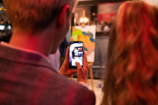 105 DSC01927 Olli phone pic 1 540x360 - Event Recap: Pernod Ricard Art Battle @ournewyorkvodka @PernodricardUSA @NapkinKilla