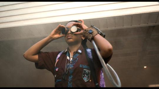 SYY Eden goggles garage 540x304 - Feature: See You Yesterday Interview with Stefon Bristol, Fredrica Bailey,Eden Duncan-Smith, Danté Crichlow, and Brian @stro Bradley by Jonn Nubian @stefonbristol @MissezBrando @realmikefox #seeyouyesterday #Tribeca2019 @netflix