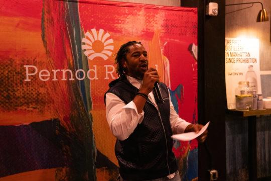 Tavarus Hogans of Pernod Ricard USA 540x360 - Event Recap: Pernod Ricard Art Battle @ournewyorkvodka @PernodricardUSA @NapkinKilla