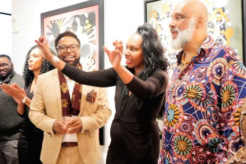 photos by Stella Magloire 223 500x334 - Event Recap: Danny Simmons Alone Together Private Reception at George Billis Gallery @ogilvy @rush_art @miolowinegroup_ #ShinjuWhisky #AloneTogether