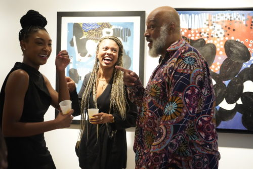 photos by Stella Magloire 301 500x334 - Event Recap: Danny Simmons Alone Together Private Reception at George Billis Gallery @ogilvy @rush_art @miolowinegroup_ #ShinjuWhisky #AloneTogether