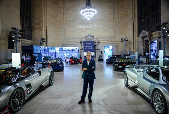 Horacio Pagani The Story of a Dream exhibit 540x364 - Pagani: The Story of a Dream exhibit in Grand Central Station November 4 - 8, 2019 @OfficialPagani @Pirelli #pagani #TheStoryofaDream #grandcentral