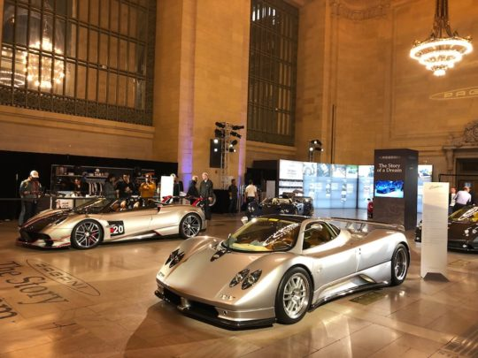 Pagani exhibit 540x405 - Pagani: The Story of a Dream exhibit in Grand Central Station November 4 - 8, 2019 @OfficialPagani @Pirelli #pagani #TheStoryofaDream #grandcentral