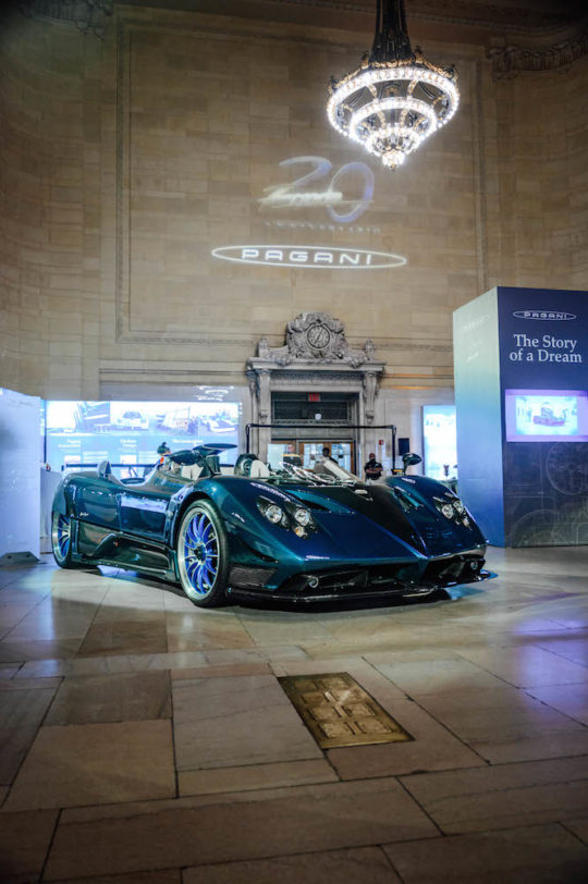 Zonda HP Barchetta 540x812 - Pagani: The Story of a Dream exhibit in Grand Central Station November 4 - 8, 2019 @OfficialPagani @Pirelli #pagani #TheStoryofaDream #grandcentral