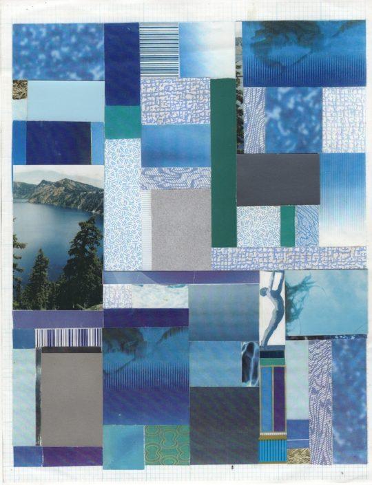Frederick Weston Blue Bathroom Blues 13 1999 Collage on color photocopy 8.5 x 11 in courtesy Gordon Robichaux NY 540x705 - Outsider Art Fair New York January 16-19, 2020 @OutsiderArtFair