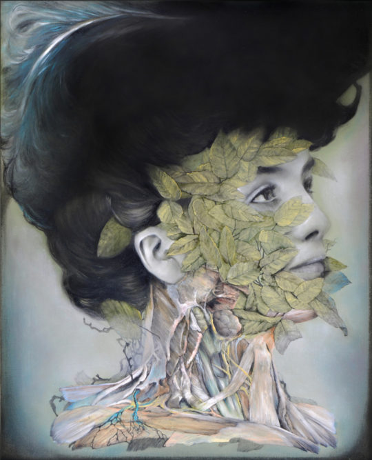 Nunzio Paci Torpid Flesh Carne Inerte Oil and graphite on board 19.7  x 15.8   540x667 - Corey Helford Gallery presents The Influence of Fellini: A Surreal 100th Birthday Celebration group exhibit January 25 - February 29, 2020 @coreyhelford
