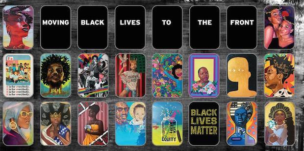 f Black Lives To the front - Black Lives To The Front: An original art exhibit at the 2020 US Open #blacklivesmatter @usopen