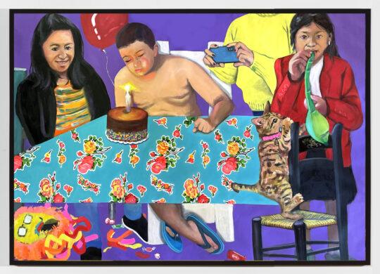 Jessica Alazraki theBday 20201 oil 43x59 540x390 - Jessica Alazraki - La Familia Exhibition  May 5 - 22, 2021 at Black Wall Street Gallery NYC