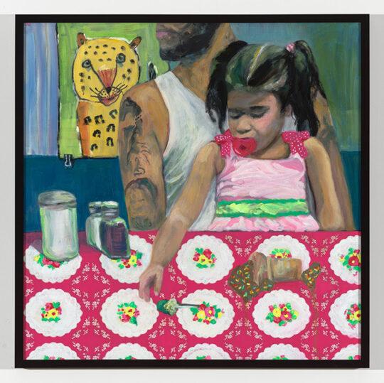 Jessica Alazrakilowres Tiger 2020 oil 35x35 540x539 - Jessica Alazraki - La Familia Exhibition  May 5 - 22, 2021 at Black Wall Street Gallery NYC