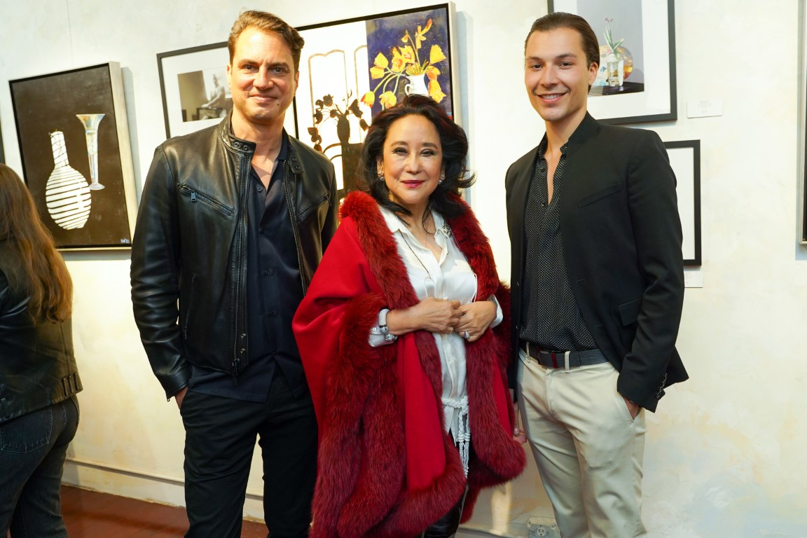 10 Christopher Noto Minnie Osmena Mathieu Spannagel - Event Recap:  Victor Arimondi Retrospective Tribute 'Donald and Victor: Under The Influence' With Artist Don Hershman At Salomon Arts Gallery @lawlormedia